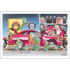 Auto Repair Christmas Cards Paul Oxman Publishing