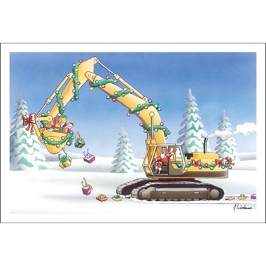 Santa The Excavator Driver Paul Oxman Publishing