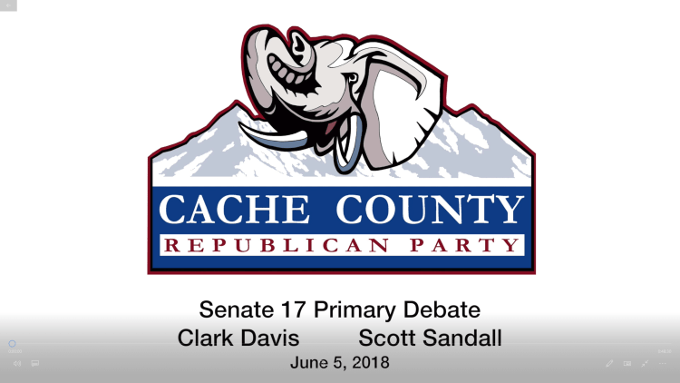 Cache County Republican Party, Utah Senate 17 debate, June 5th, 2018