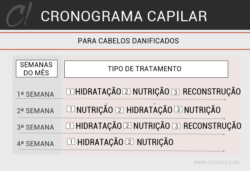 CRONOGRAMA CAPILAR CABELOS DANIFICADOS