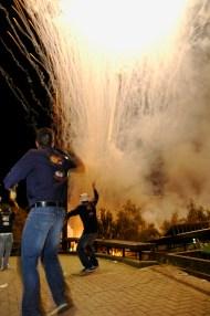 Fuegos en la noche del 14