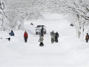 Al parecer la parte más intensa de la tormenta golpeó a Connecticut, donde las autoridades ordenaron el cierre de todas las carreteras.