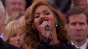 """Beyoncé usó una pista """"pregrabada"""" en la juramentación de Obama, dicen los militares"""