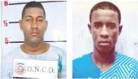 Edwin Omar Cabrera, (El Muerto) y Junior Javier Minaya, (Gilbert).