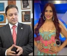 Presidente Cámara de Diputados se casó con presentadora de Telemicro Nahiony Reyes