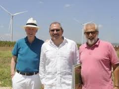 Bill Clinton visita parque eólico