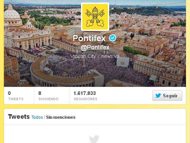 Reactivan cuenta en Twitter del papa