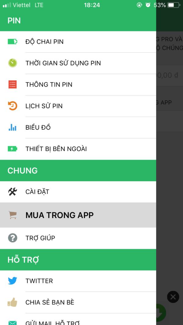 mua tính năng pro battery life