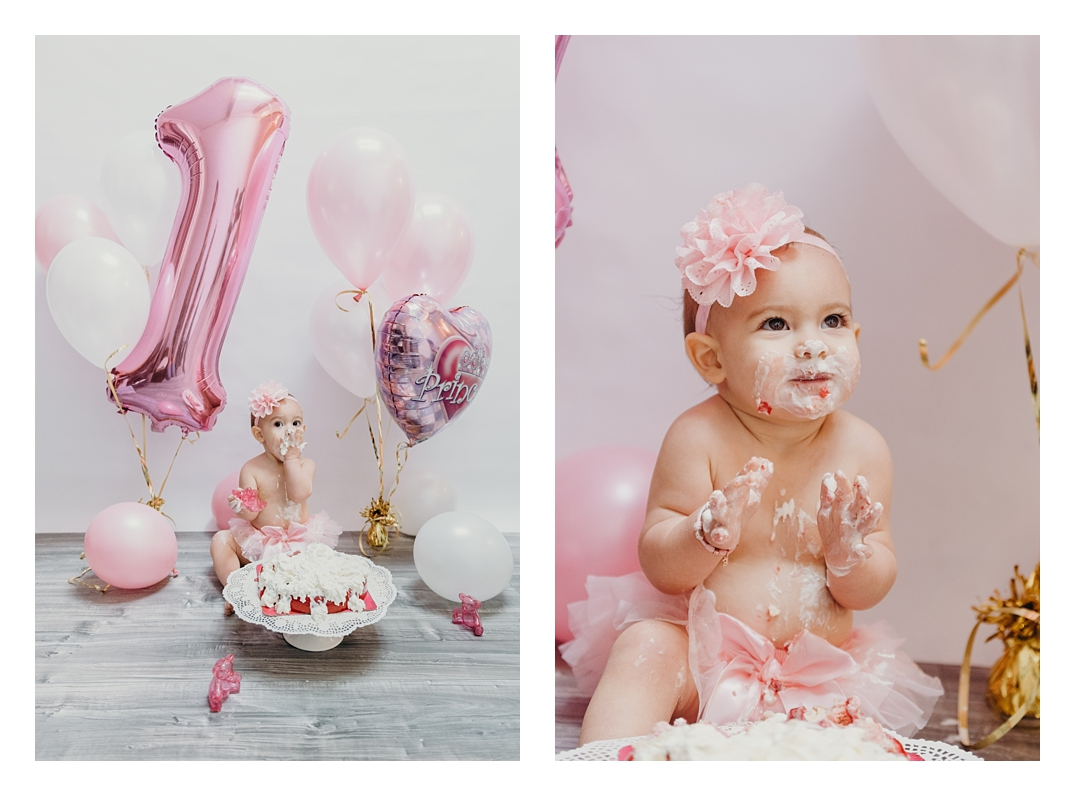 photographe smash the cake, Photographe smash the cake: Eva, 1 an!