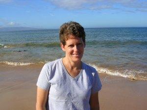 Ellen Hogarty at beach in Maui