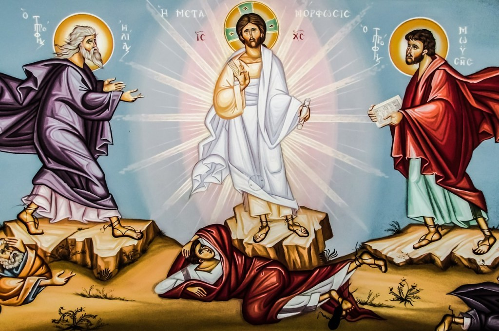 Jesus at the transfiguration icon
