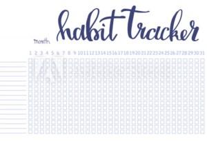 habit tracker chart