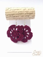 Flower earrings plum