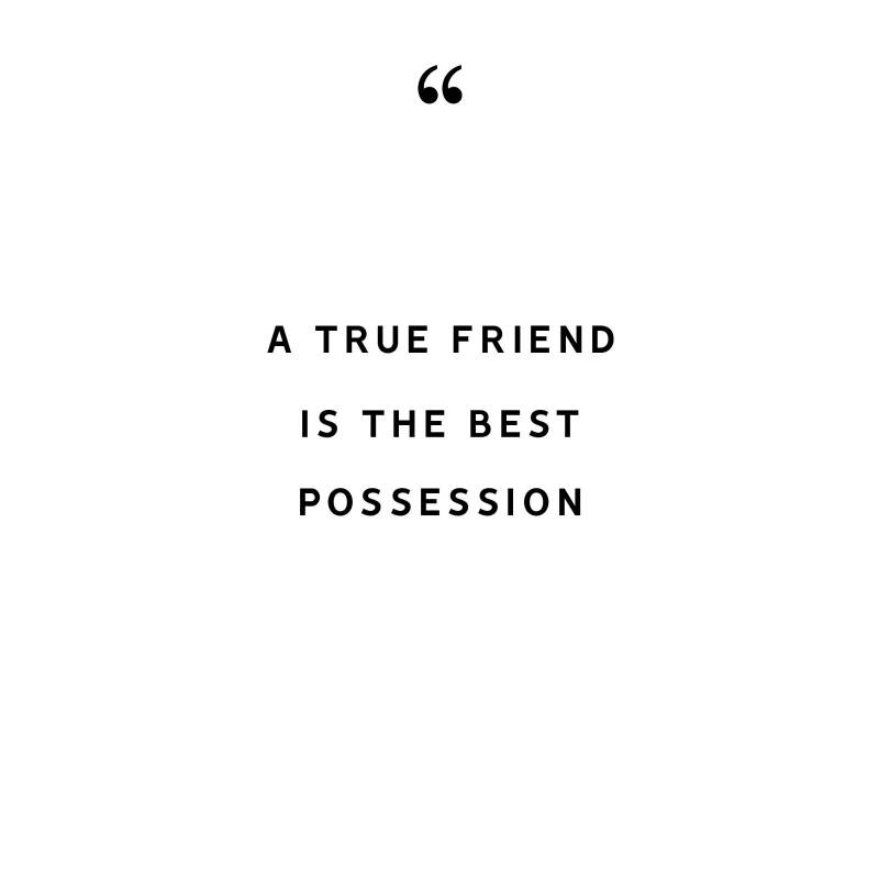 A TRUE FRIEND IS THE