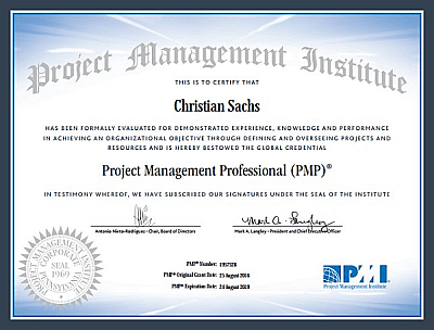 Christian Sachs Is A Pmp Now Cactus Competence