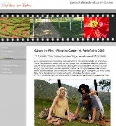Gärten im Film 2009