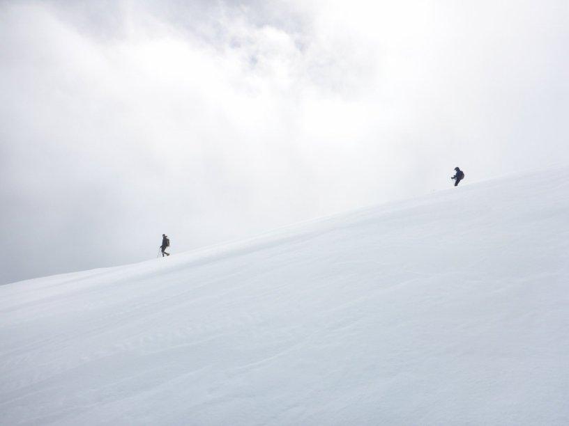 Descending Mt. Baldy