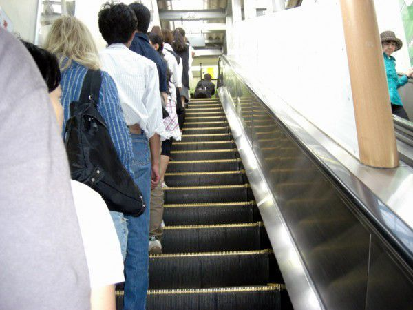 Escalator Etiquette in Japan