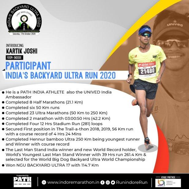 Kartik Joshi Card Courtesy of Indore Marathon