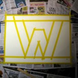 "We taped out the ""W"" using words like ""parrallel"" and ""sticky."""