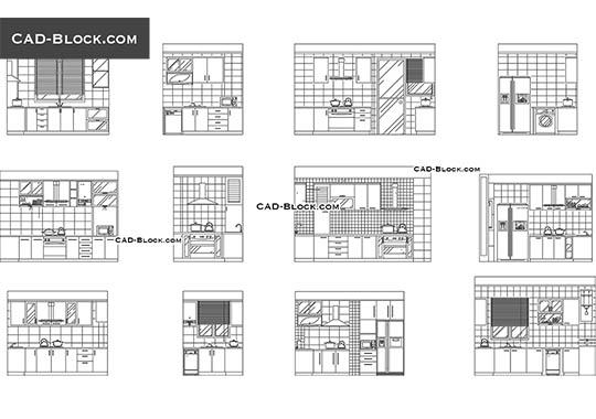 Kitchen Small Appliances Free CAD Blocks, Download AutoCAD