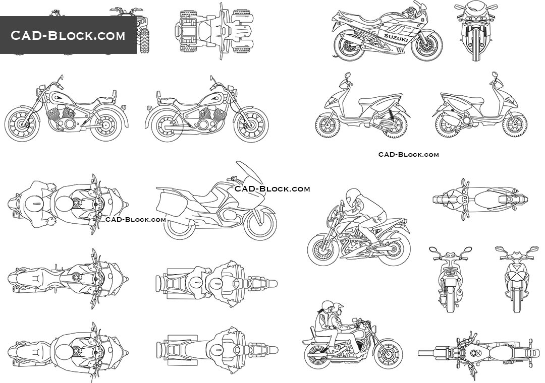 Motorbikes Cad Blocks Download