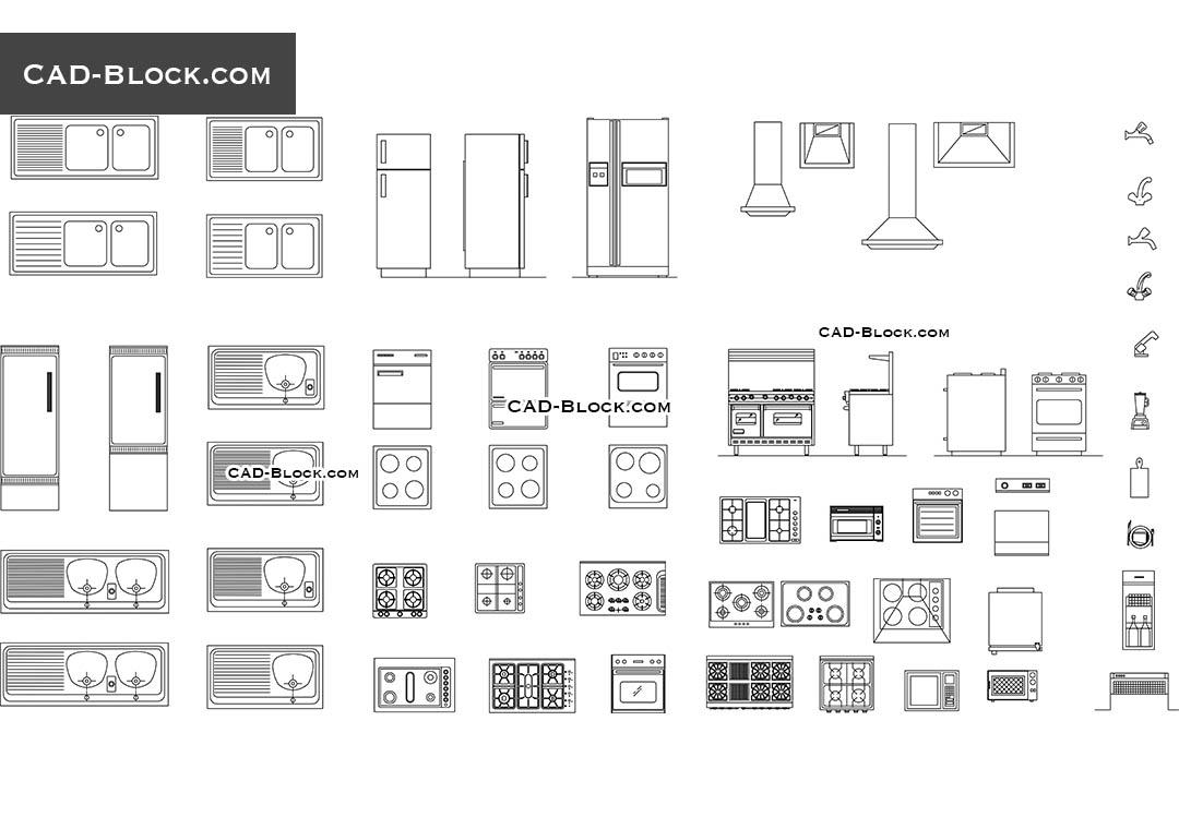 Kitchen Cad Blocks Appliances