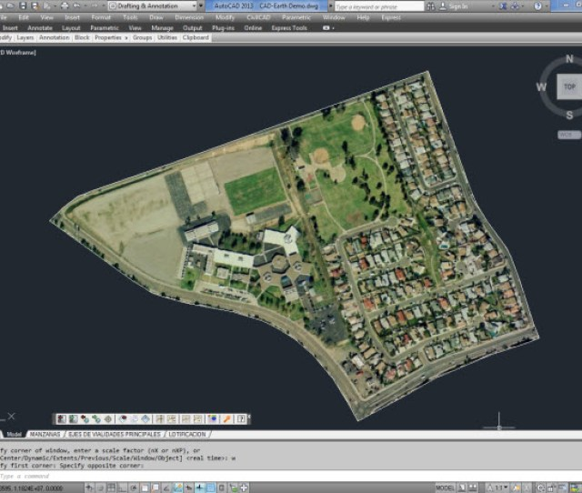 Import Google Earth Image To Cad An Image Showing Google Earth Polygons And The Equivalent Objects Imported To Cad