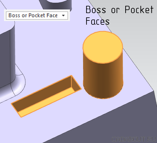 NX Boss or Pocket Faces Selection Intent Rule