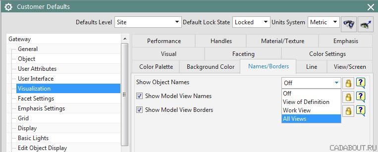 Siemens NX Show Object Names Option