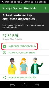 credito google opinion cada centavo conta