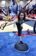 Fun with the TRX and the Bosu at the trade show.