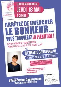 Affiche conférence dédicace de Nathalie Bridonneau