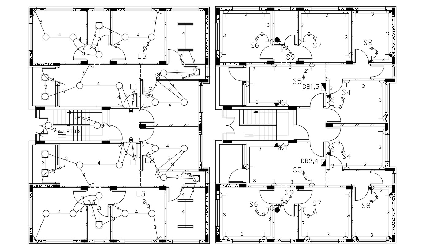 2 Bhk Apartment House Electrical Layout Plan Design