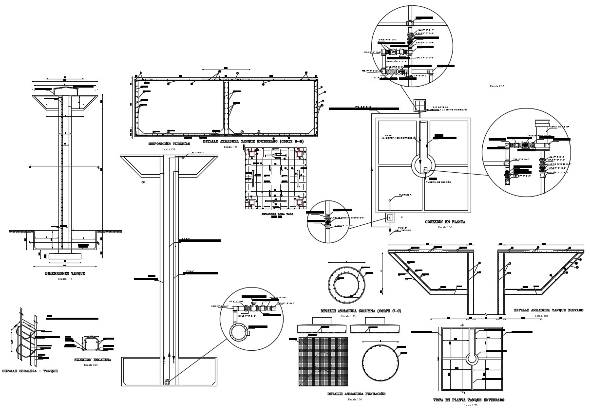 Download Free Industrial Burns Tank Plant Autocad Drawing