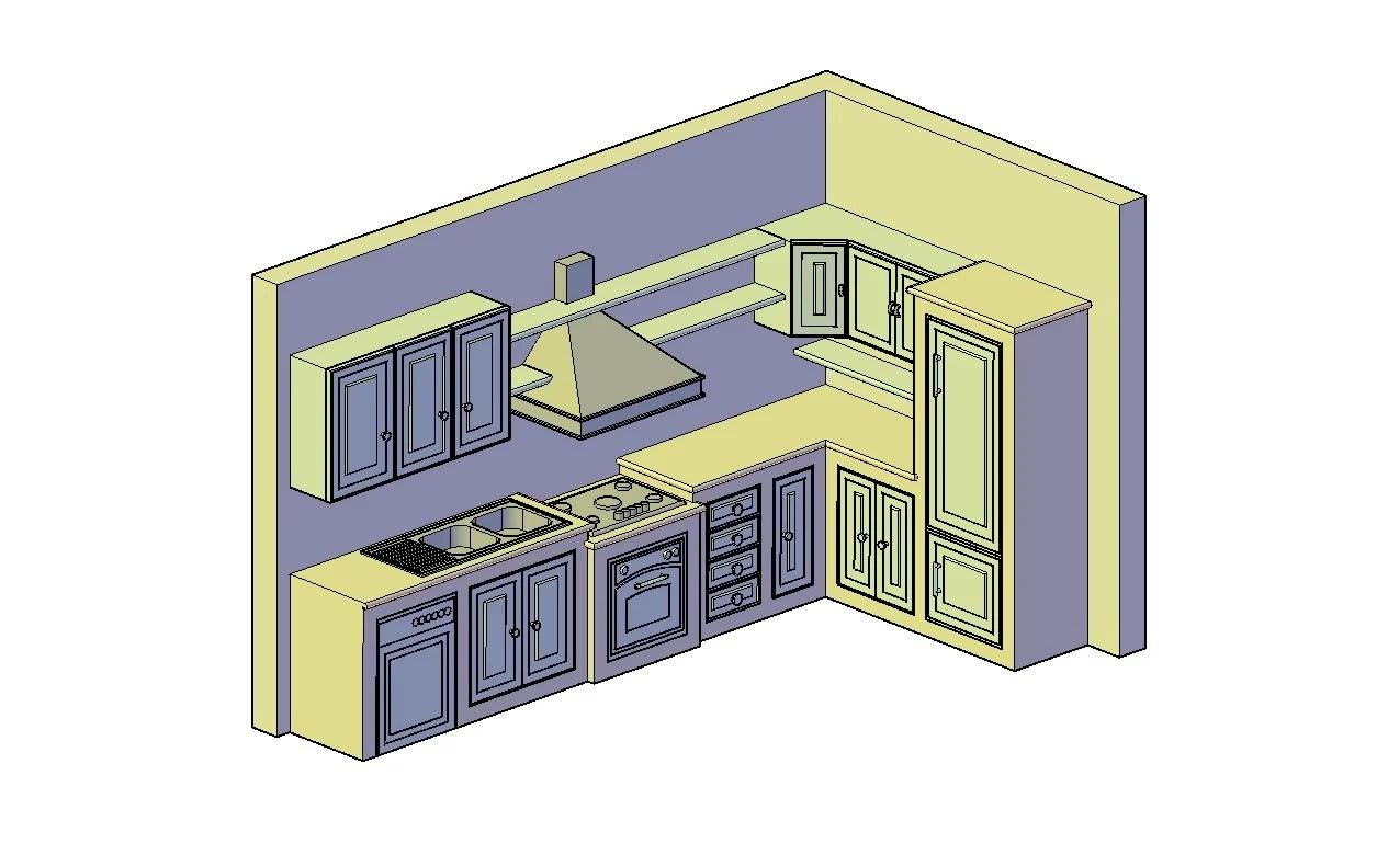 Free 3d Kitchen Design Dwg File Download