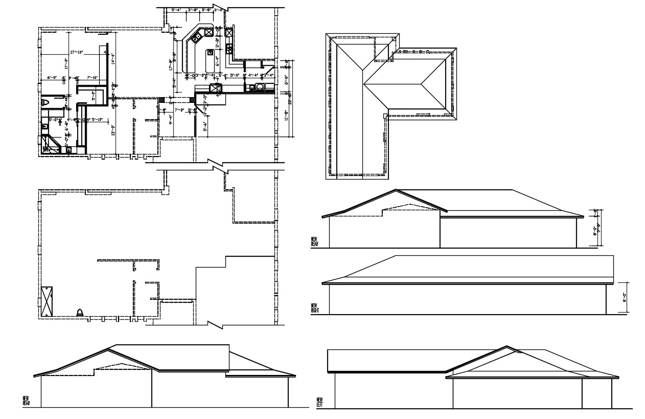 House Project Autocad Drawing