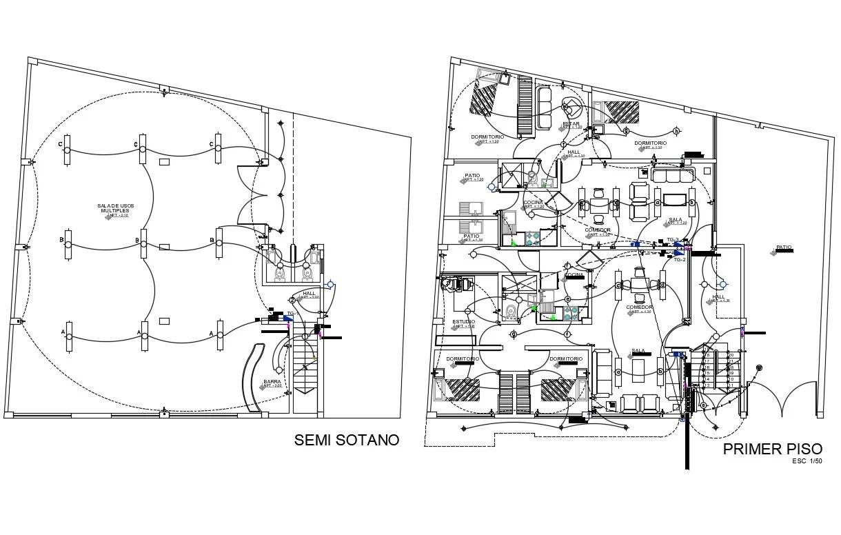 House Wiring Plan Drawing