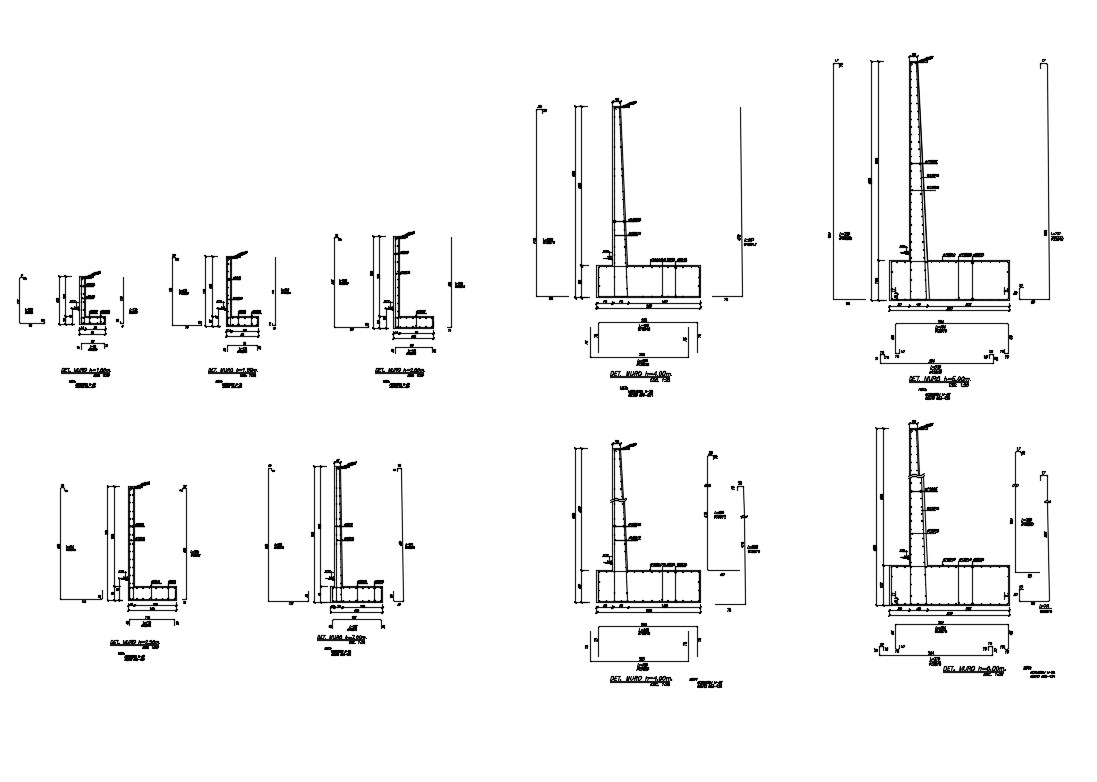 Retaining Wall Connections Cad Construction Details Dwg