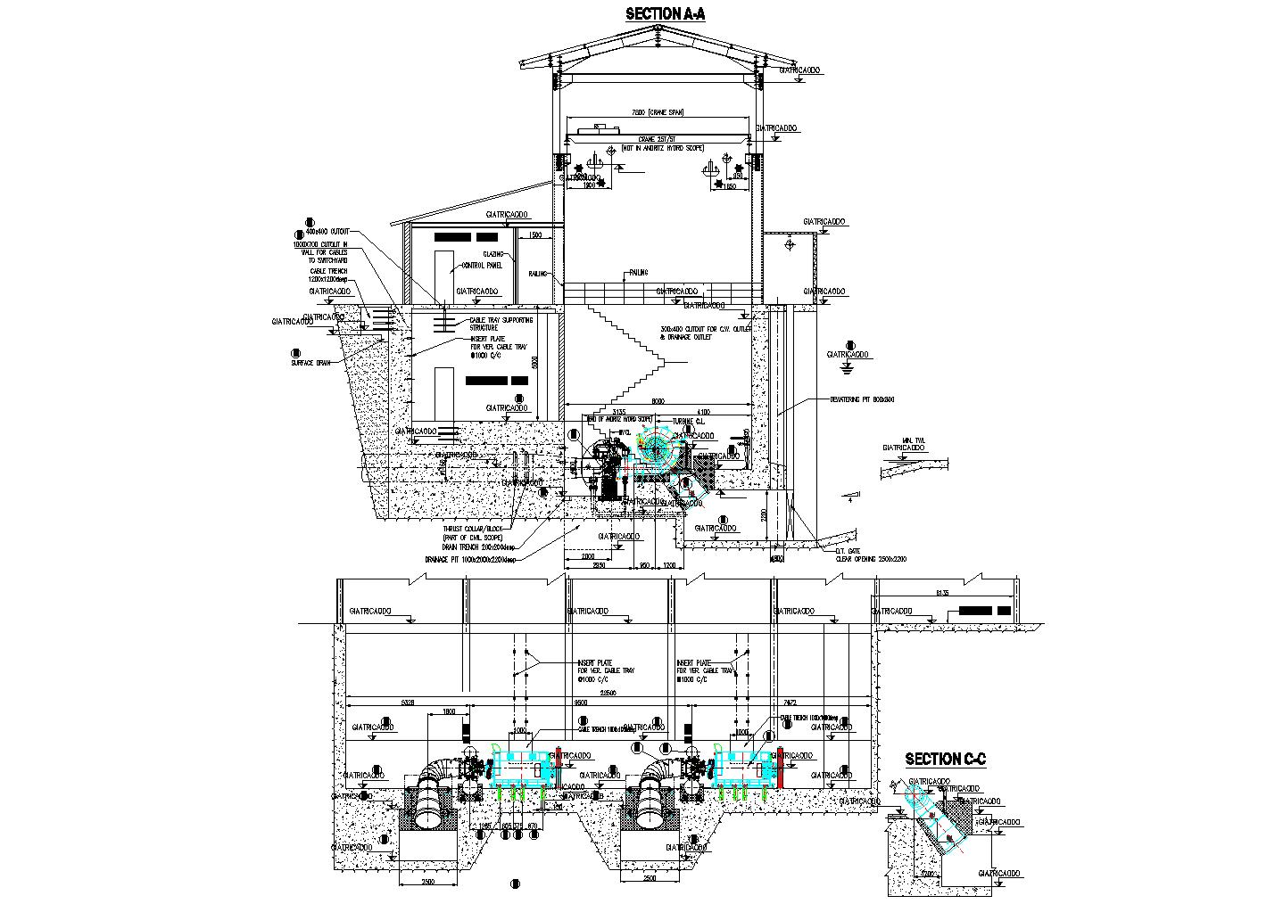 The Powerhouse Plan Detail Dwg File