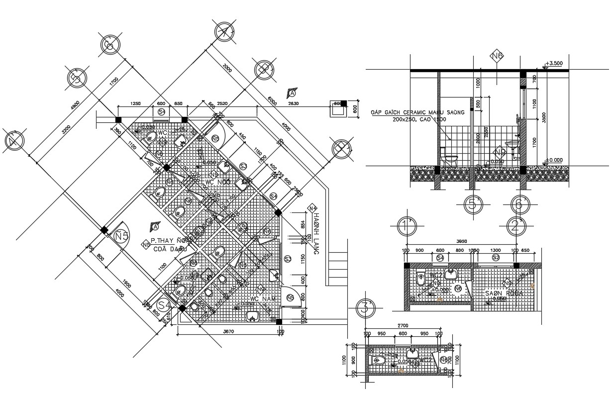 Wc Plan Cad Drawing Download