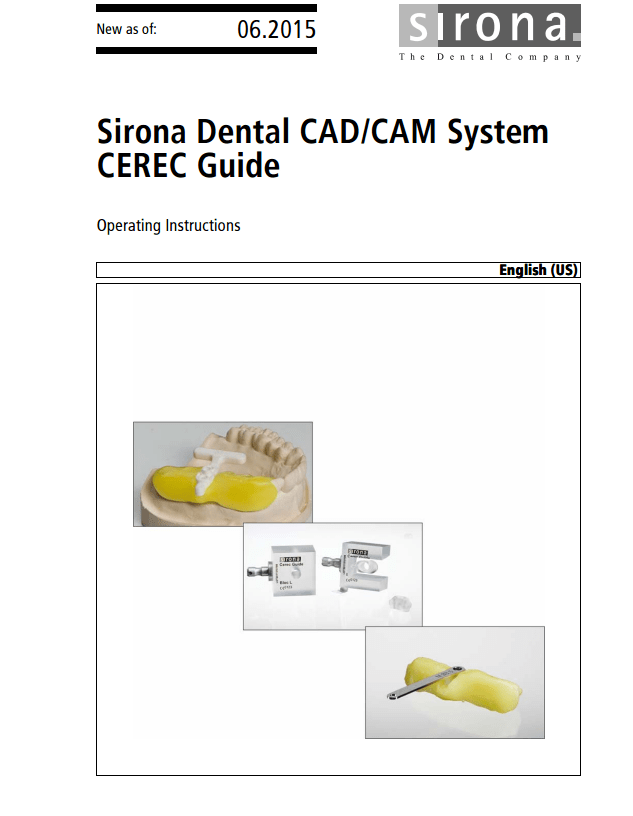 CEREC Guide Operation Instructions