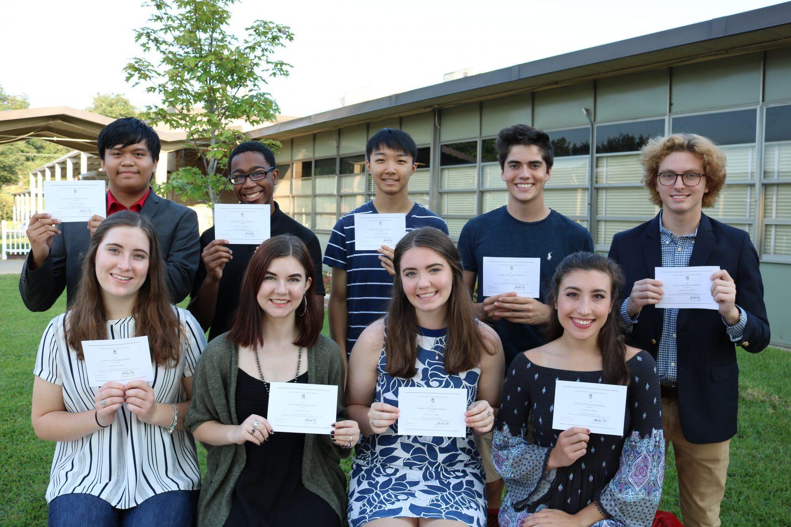 Nine Caddo Magnet Students Designated National Merit Commended Students