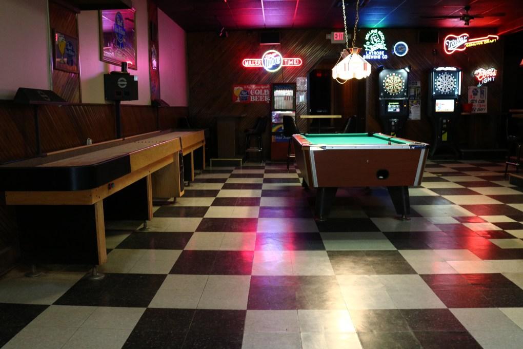 Shuffle Board, Pool, Darts, Pulltabs