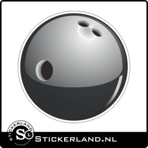 Bowling ball Oldskool retro sticker