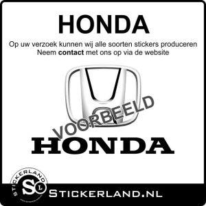 Honda stickers laten maken? Lees verder...