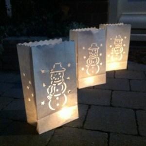 Witte Candle Bags set 10 stuks