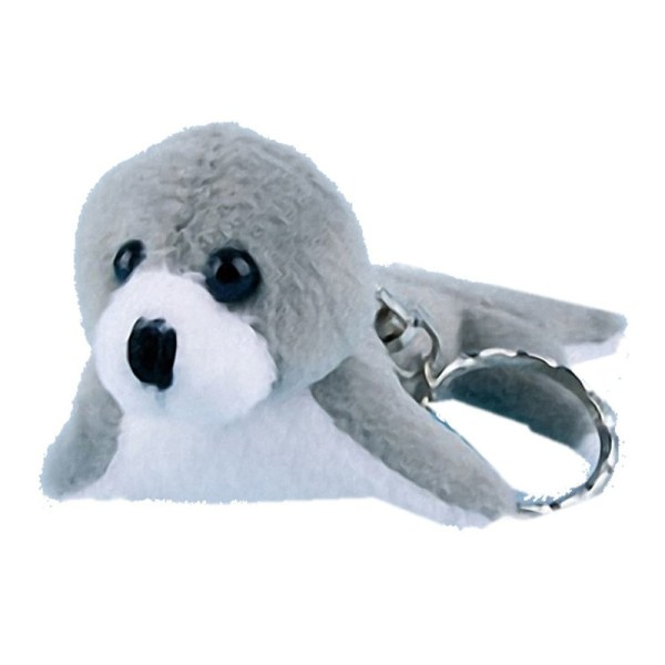 Grijze/Witte zeehond sleutelhangers 10 cm