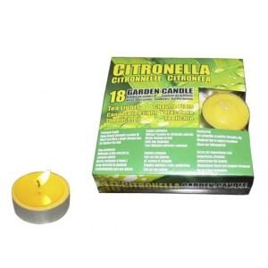 Set van 18x stuks anti muggen waxinelichtjes Citronella