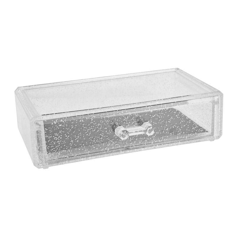 Glitter beauty organizer - 18.5x11x5 cm